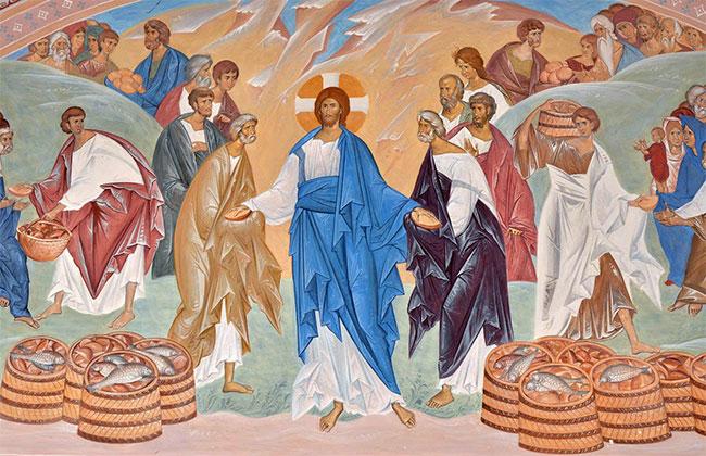 Вера православная - Чудесное насыщение народа пятью хлебами